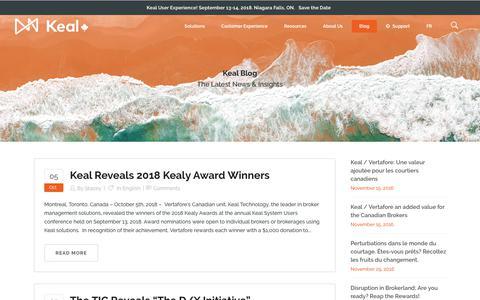 Screenshot of Blog keal.com - Keal Blog - Keal Technology - captured Oct. 15, 2018