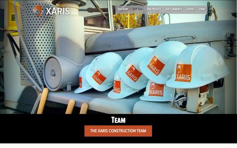 Screenshot of Team Page xaris.ca - Team - XARIS Construction Management in Langley BC | XARIS Construction Management in Langley BC - captured Oct. 3, 2014