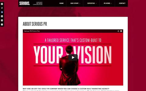 Screenshot of About Page seriouspr.com - Belfast Northern Ireland PR company - ABOUTSerious PR – Belfast PR Agency - captured Oct. 26, 2014