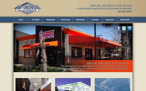Screenshot of Home Page d-mar.com - D-Mar General Contracting - - captured Oct. 3, 2014