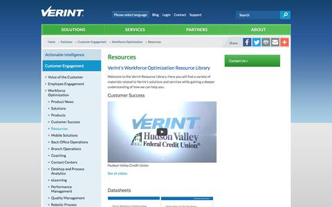 Workforce Optimization - Resources | Verint Systems