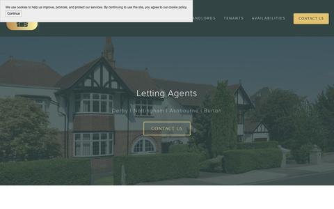 Screenshot of Home Page vanquishlettingservices.co.uk - Letting Agents Derby | Houses To Rent - Vanquish Letting Services Limited - captured Oct. 27, 2017