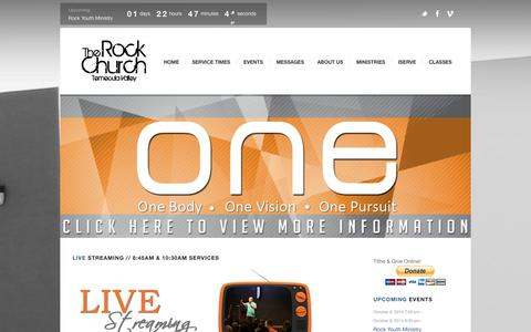 Screenshot of Home Page gotrock.org - The Rock Church Temecula Valley | - captured Oct. 6, 2014