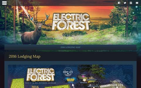 Screenshot of Maps & Directions Page electricforestfestival.com - 2016 Lodging Map | Electric Forest Festival - captured Jan. 17, 2016
