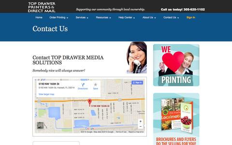 Screenshot of Support Page ordermyprinting.net - Contact Us - captured Feb. 16, 2016
