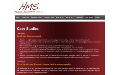 Screenshot of Case Studies Page hmspartnership.co.uk - Case Studies | HMS Partnership - captured Sept. 29, 2018