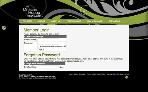 Screenshot of Login Page xsahm.com - Account Login - captured Oct. 6, 2014