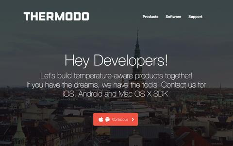 Screenshot of Developers Page thermodo.com - Thermodo ~ Developer - captured Feb. 19, 2016