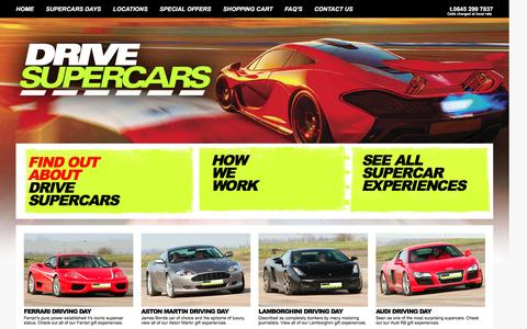Screenshot of Home Page drive-supercars.co.uk - ! Drive Supercars | Supercar Days and Supercars Experience Days - captured Sept. 25, 2016