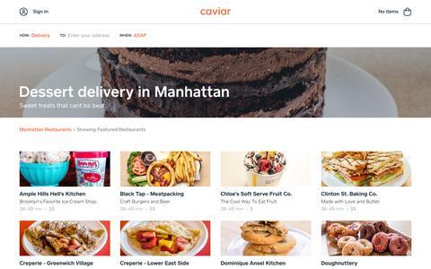 Dessert delivery in Manhattan | Caviar