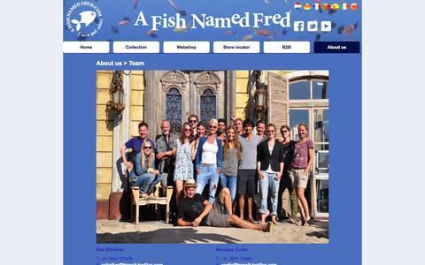 Screenshot of Team Page afishnamedfred.com - A Fish Named Fred - Team - captured Sept. 30, 2014