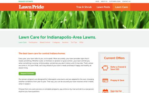 Screenshot of Services Page lawnpride.com - Lawn Care Services   Lawn Pride - captured July 21, 2017