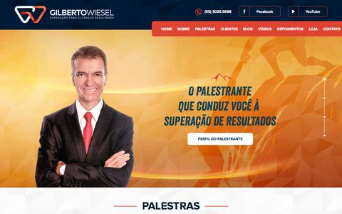 Screenshot of Home Page gilbertowiesel.com.br - Gilberto Wiesel - captured Sept. 16, 2015