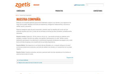 Screenshot of About Page zoetis.com.uy - Nuestra compañía   Zoetis UY - captured July 12, 2019