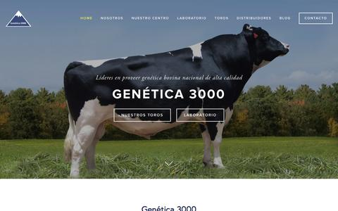 Screenshot of Home Page genetica3000.com - GenŽtica 3000 - captured Dec. 8, 2015