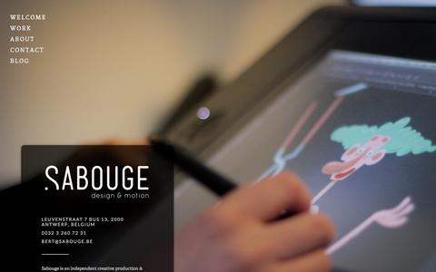 Screenshot of Home Page sabouge.com - Sabouge - captured Sept. 30, 2014