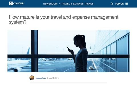 Screenshot of Blog concur.com - How mature is your travel and expense management system? - Concur - captured May 12, 2016