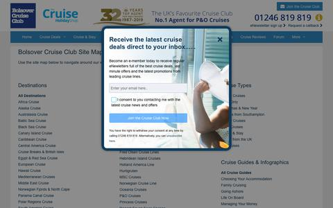 Screenshot of Site Map Page bolsovercruiseclub.com - Sitemap | Bolsover Cruise Club - captured July 18, 2019