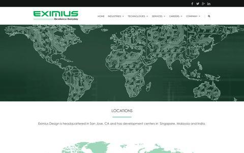 Screenshot of Locations Page eximiusdesign.com - Locations |  Eximius - captured Nov. 4, 2018