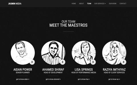 Screenshot of Team Page jasmin-media.com - Our Team | Key People at Jasmin Media London - captured Dec. 10, 2018