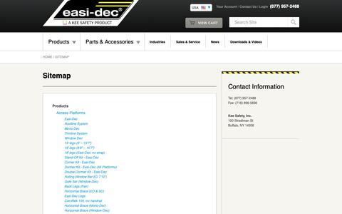Screenshot of Site Map Page easi-dec.com - Easi-Dec - captured Sept. 26, 2018