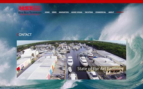 Screenshot of Contact Page highseastechnology.com - High Seas Technology - captured Aug. 7, 2017