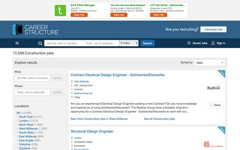 Screenshot of Jobs Page careerstructure.com - Construction jobs and recruitment at Careerstructure - captured Nov. 10, 2018