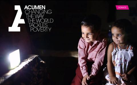 Screenshot of Home Page acumen.org - Acumen is a Bold New Way of Tackling Poverty - captured Feb. 21, 2016