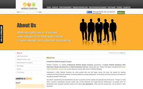 Screenshot of About Page webnetcreatives.net - Professional Website Design Company,Web Application Design Development,Custom Website Designing, Php Web Development Company | WebNet Creatives - captured Sept. 23, 2014