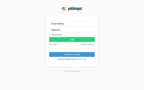 Log In - JobLogic