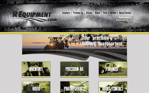 Screenshot of Home Page requipment.com - Home - REquipment - captured Sept. 4, 2015