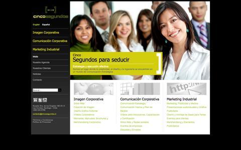 Screenshot of Home Page cincosegundos.cl - Agencia Cincosegundos - captured Oct. 2, 2014