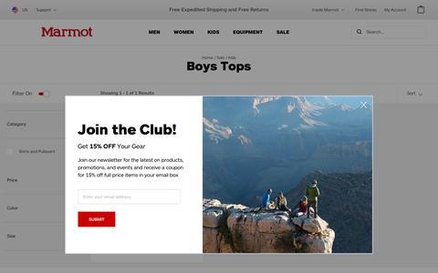 Boys Tops / Kids / Specials | Marmot.com