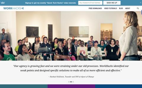 Screenshot of Blog workhacks.com - Work with Me - WorkHacks - captured Oct. 26, 2014