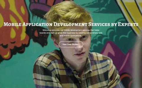 Screenshot of Services Page mobulous.com - Services - Mobulous - captured Jan. 20, 2019