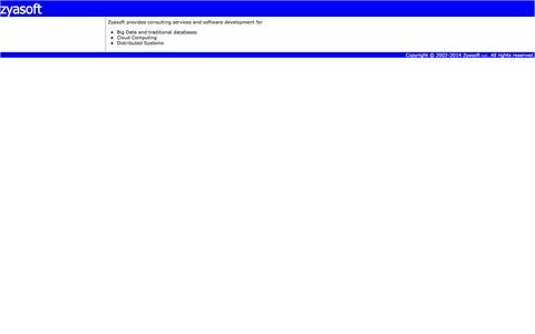 Screenshot of Home Page zyasoft.com - Zyasoft - Home - captured Aug. 17, 2016