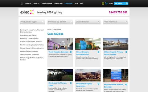Screenshot of Case Studies Page exled.co.uk - Exled | Customer case studies | Exled - captured Oct. 1, 2014
