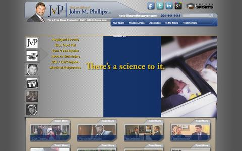 Screenshot of Press Page knowthelawyer.com - John M. Phillips Is Relied On By Television News Media | The Law Offices of John M. Phillips - captured Nov. 1, 2014
