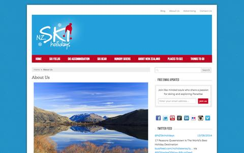 Screenshot of About Page nzskiholidays.com.au - New Zealand Ski Holidays - About Us | NZ Ski Holidays - captured Oct. 7, 2014