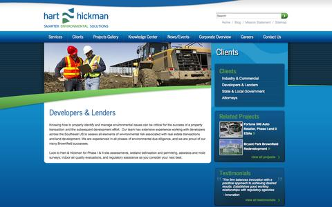 Screenshot of Developers Page harthickman.com - Developers & Lenders | Hart & Hickman - captured Oct. 2, 2014