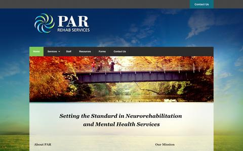 Screenshot of Home Page parrehab.org - Par Rehab - captured Jan. 22, 2016