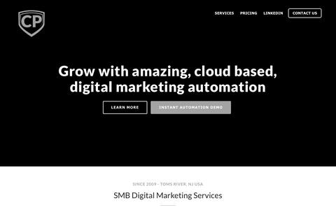 Screenshot of Home Page cuttypowers.com - Cutty Powers – Digital Marketing Agency - captured July 8, 2018