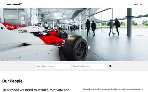 Screenshot of Team Page mclaren.com - McLaren Jobs - captured Aug. 24, 2016