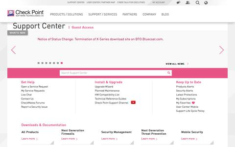 Support, Support Requests, Training, Documentation, and Knowledge base for Check Point products and services