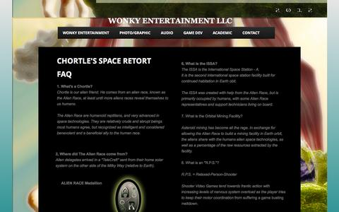 Screenshot of Privacy Page FAQ Page wonkyentertainment.com - F.A.Q. - captured Feb. 15, 2016