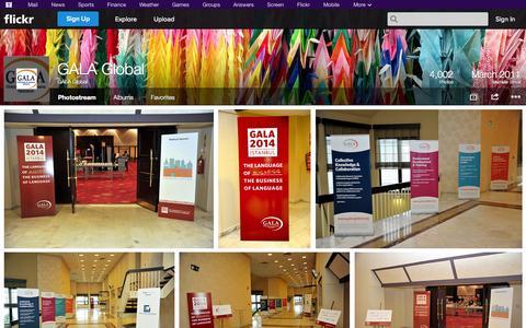 Screenshot of Flickr Page flickr.com - Flickr: GALA Global's Photostream - captured Oct. 22, 2014