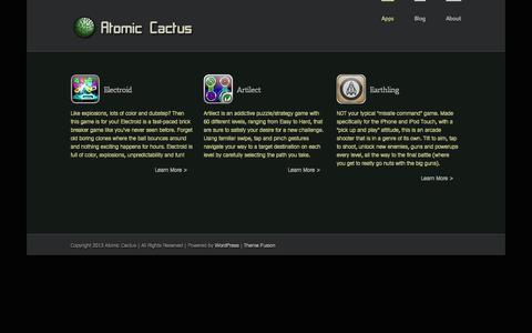 Screenshot of Home Page atomic-cactus.com - Atomic Cactus - captured Sept. 30, 2014