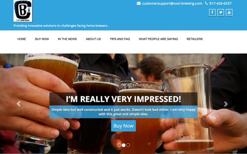 Screenshot of Home Page cool-brewing.com - Cool Brewing | Providing innovative solutions to challenges facing home brewers. - captured Sept. 18, 2015