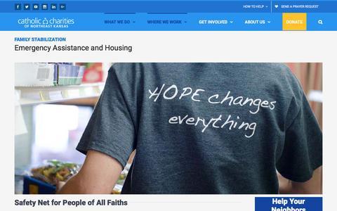 Screenshot of Locations Page catholiccharitiesks.org - Emergency Assistance and Housing - Catholic Charities of Northeast Kansas - captured Oct. 28, 2016