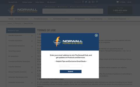 Screenshot of Terms Page norwall.com - Terms Of Use - captured Sept. 22, 2018